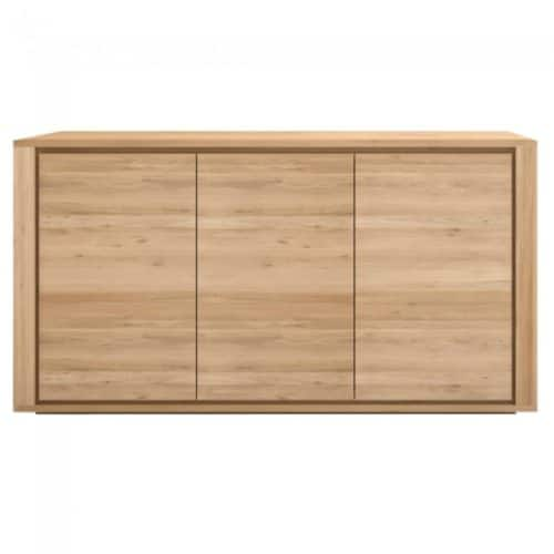 ethnicraft oak shadow 3 doors sideboard 2