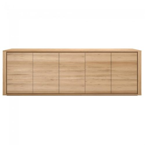 ethnicraft oak shadow 5 doors sideboard 3