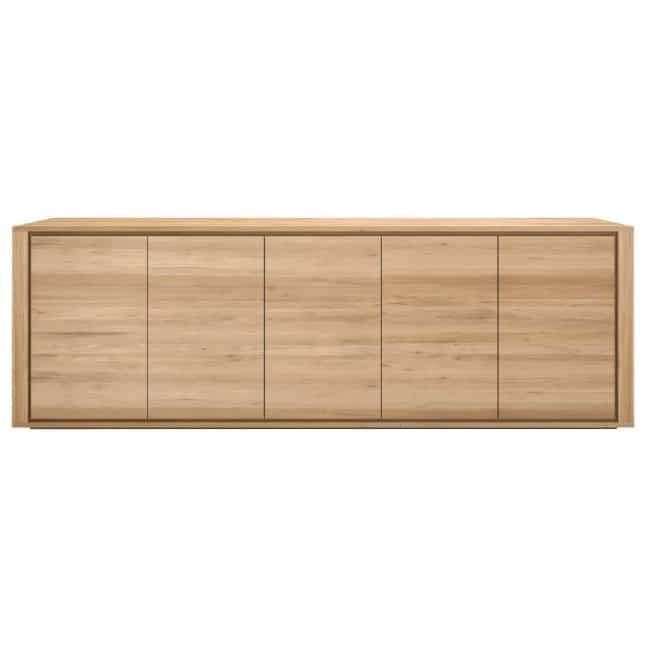 ethnicraft oak shadow 5 doors sideboard 3