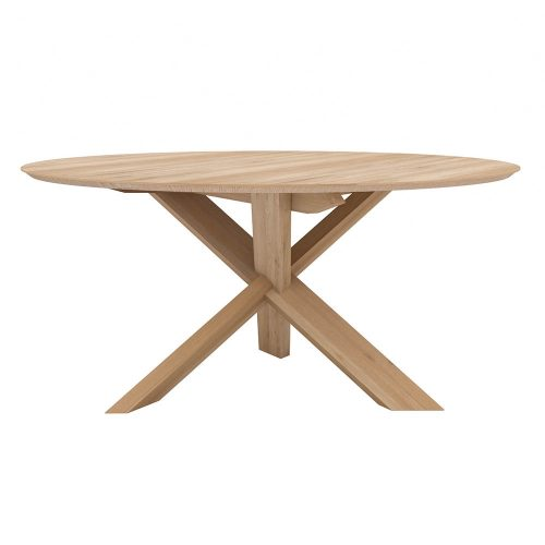 oak circle dining table 1