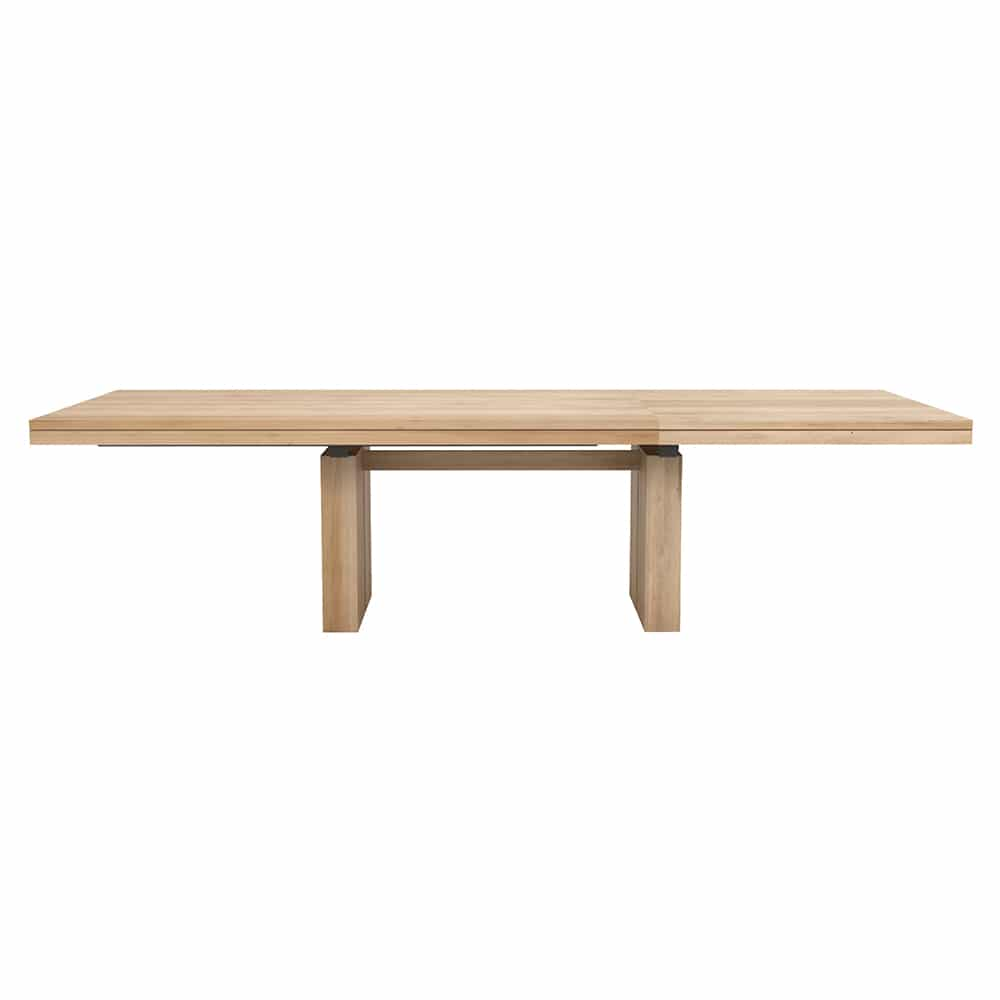 oak double extendable dining table 3
