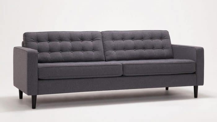 Large Jet Ash Sofa Front Angled
