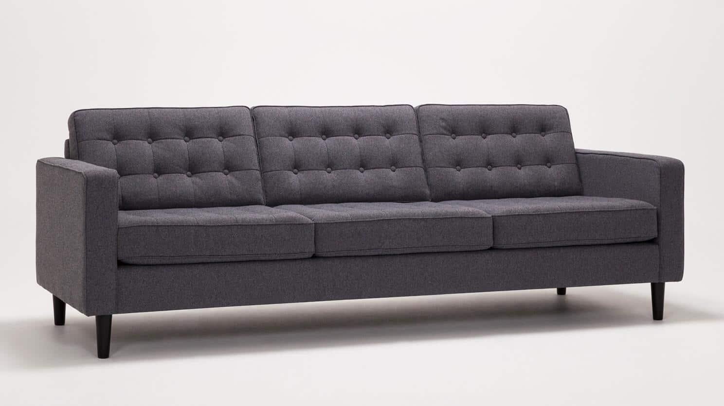 Jet Ash Sofa Front Angled
