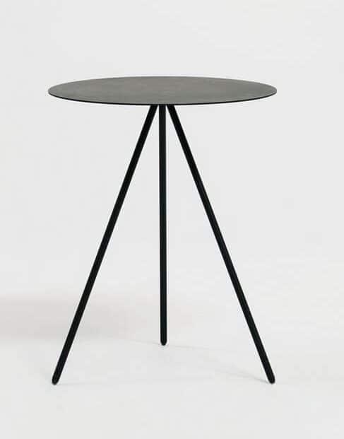 Black end table side