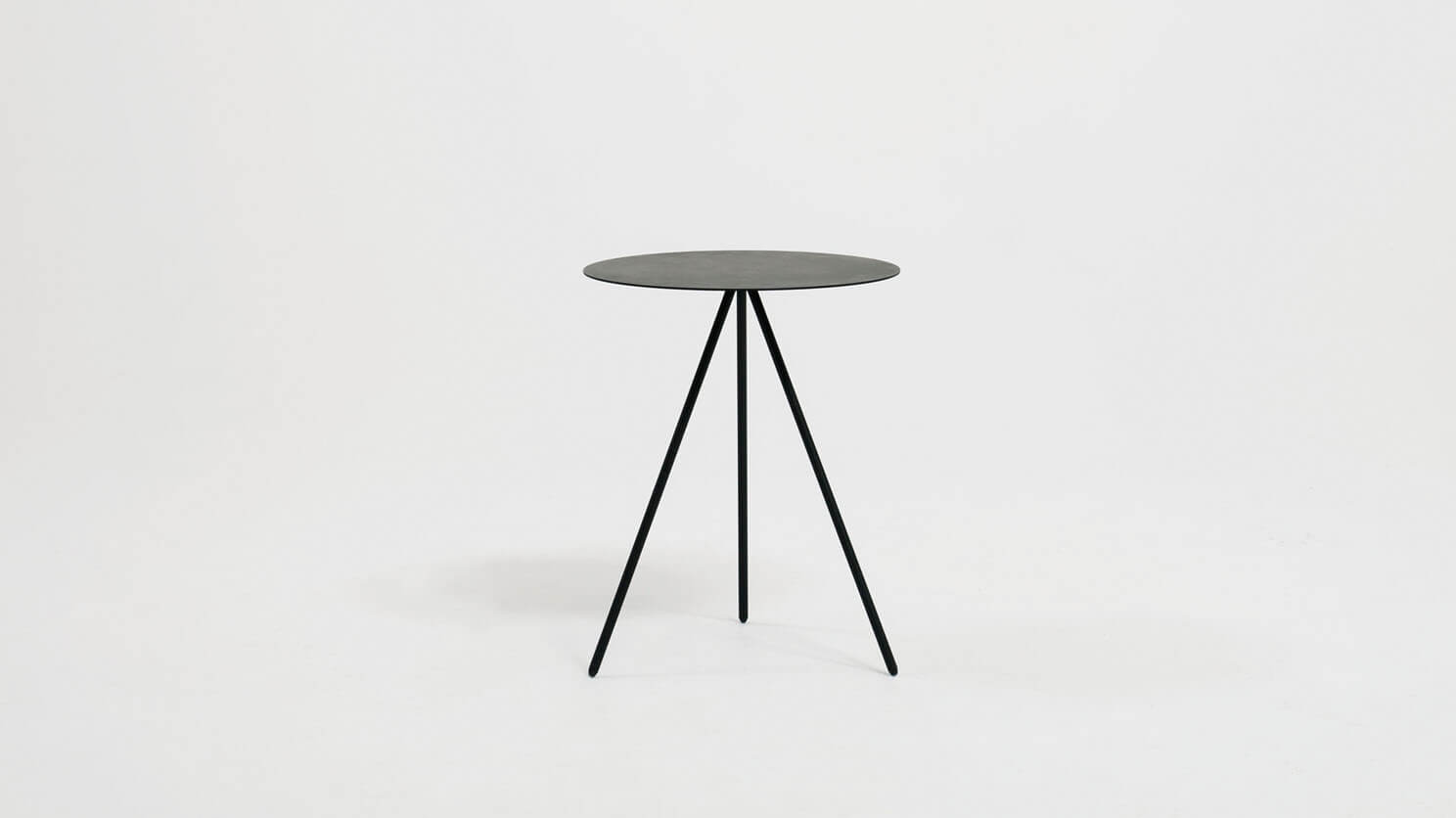 Black end table side