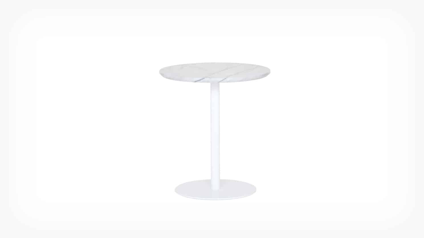 Simone marble end table front