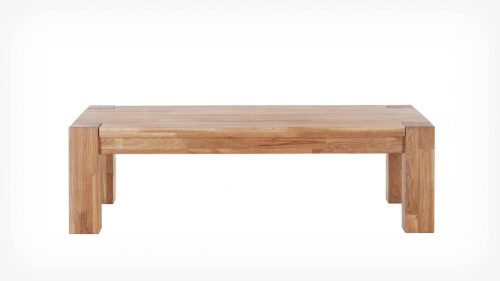 Oak coffee table front