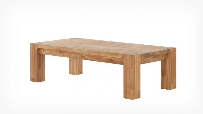 Oak coffee table corner
