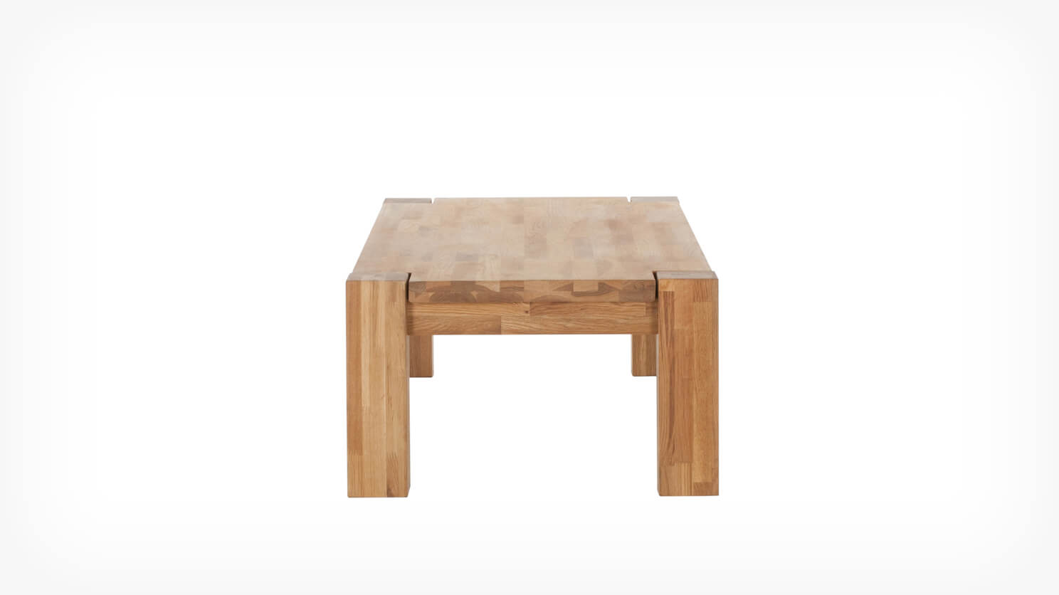 Oak coffee table side