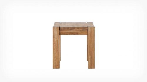 Oak end table front