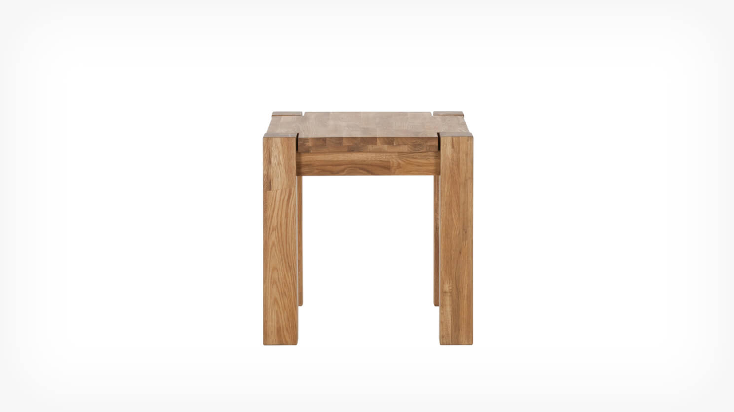 Oak end table front
