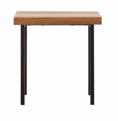 Reclaimed teak end table side