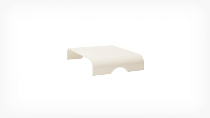 White onyx ottoman tray corner 1