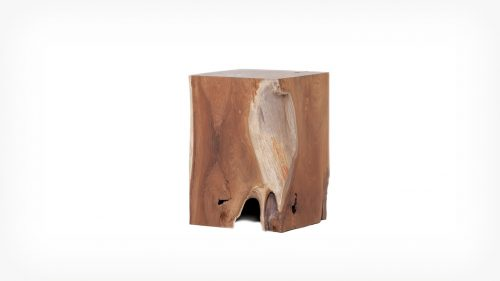 Teak rectangle stool front