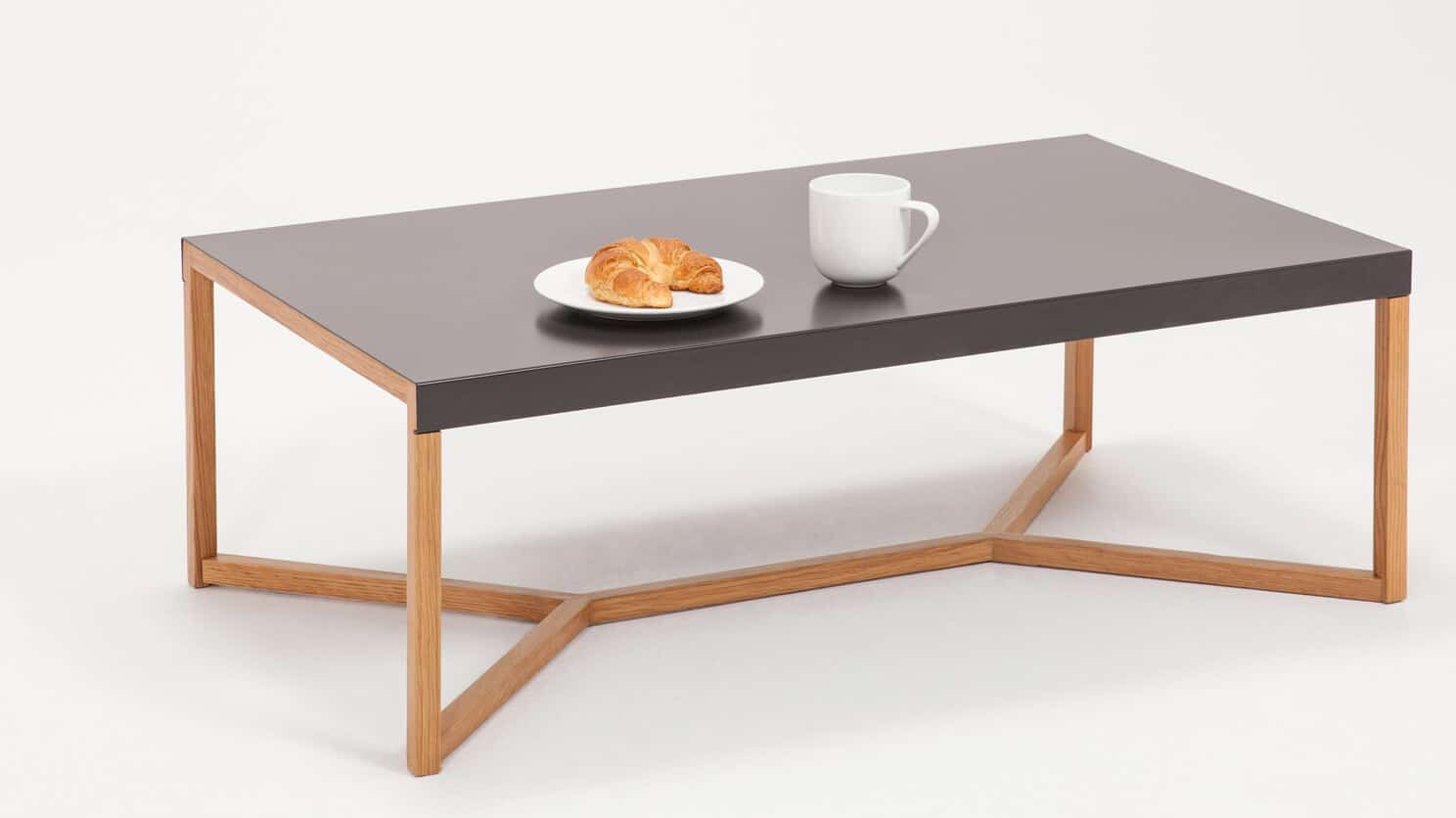 Trivia Charcoal Coffee Table Breakfast