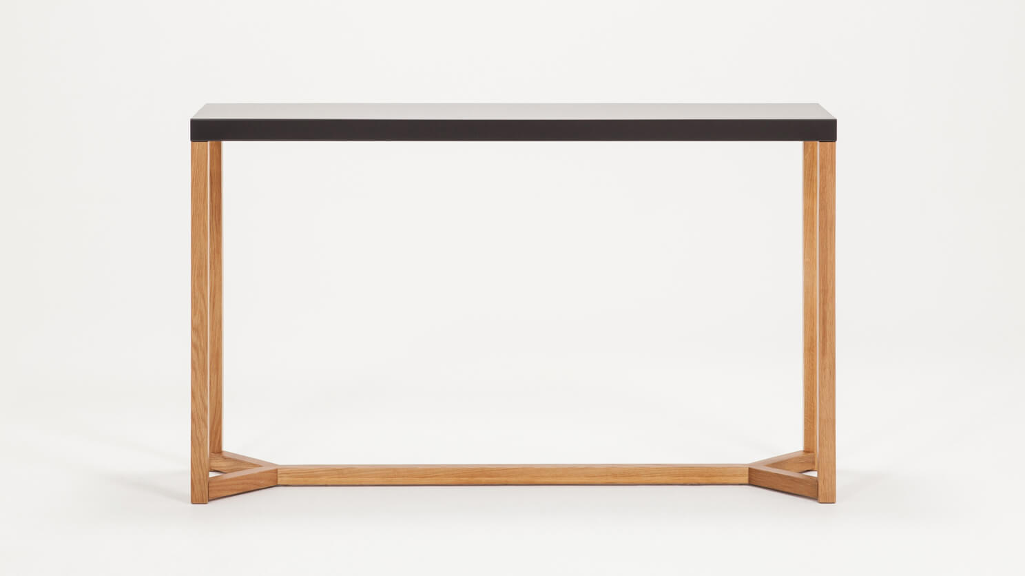 Trivia Console Table Front Charcoal