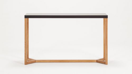 Trivia Console Table Back Charcoal