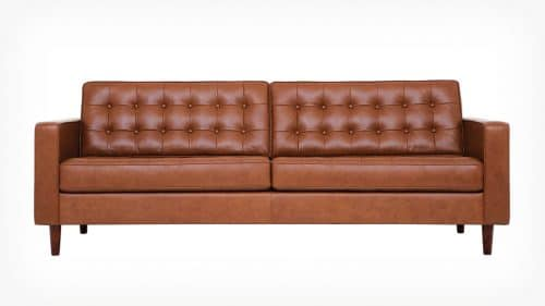 37095 01 06 sofa reverie 86 leather classic sahara front earth legs