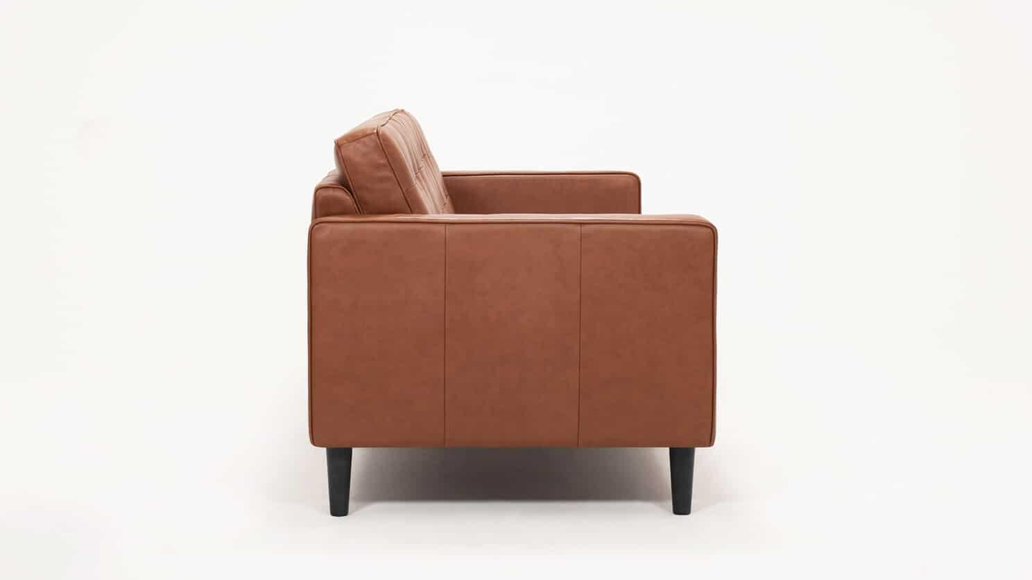 Large Leather Sofa Side