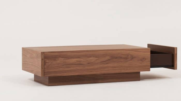 Walnut Cocktail Table Drawer