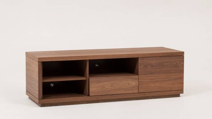 Walnut Plasma Unit Corner Open