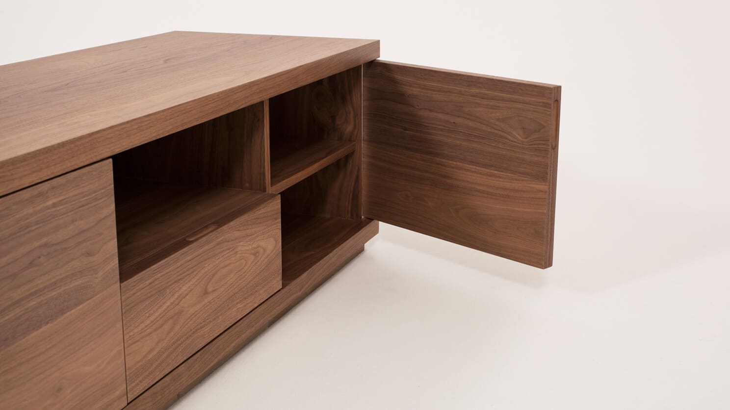 Walnut Plasma Unit Storage Side