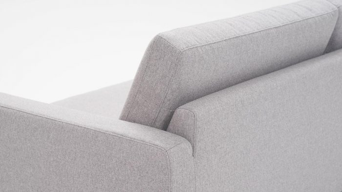 Panama Grey Sofa Back Angled