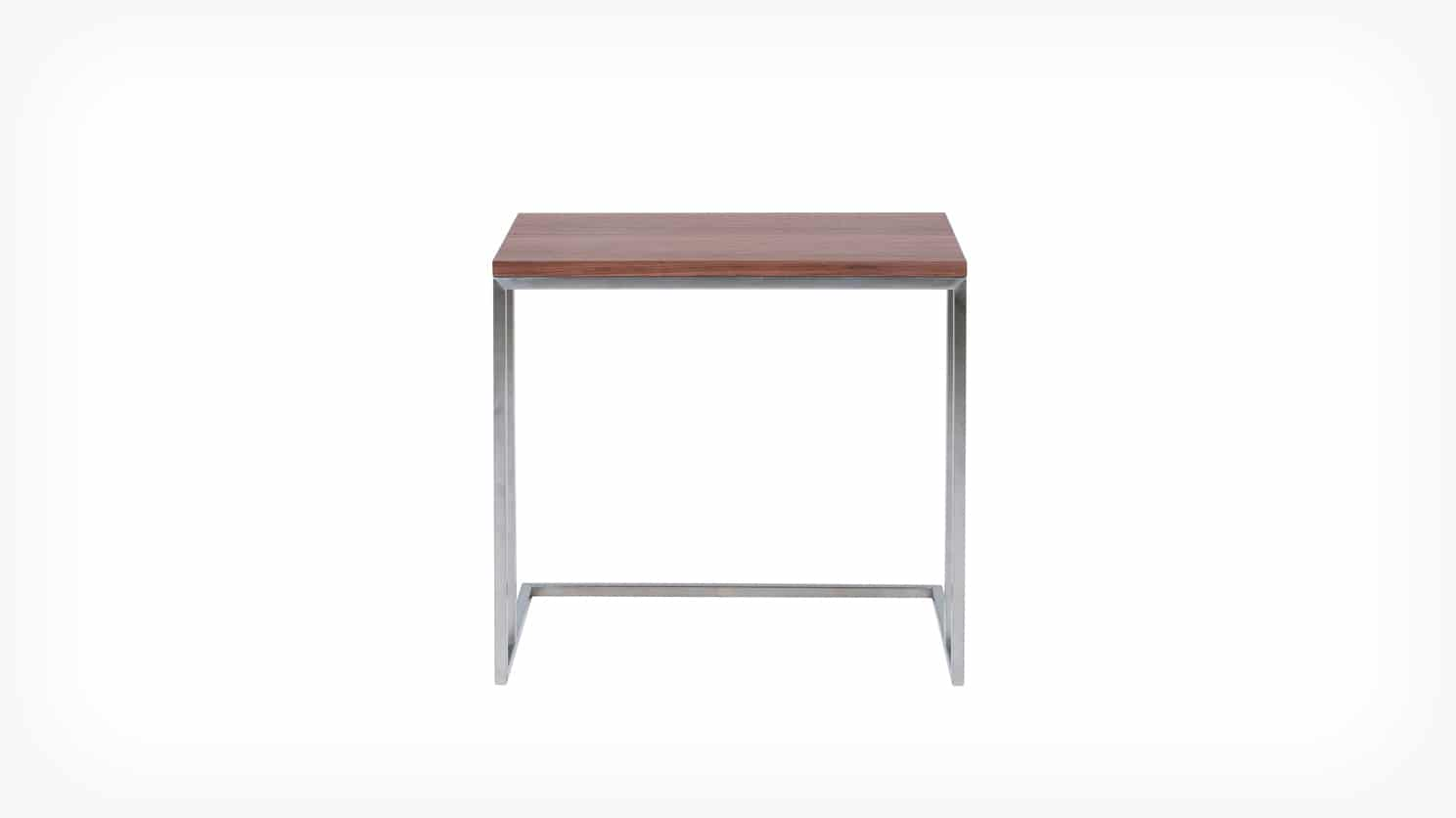 scout end table walnut front