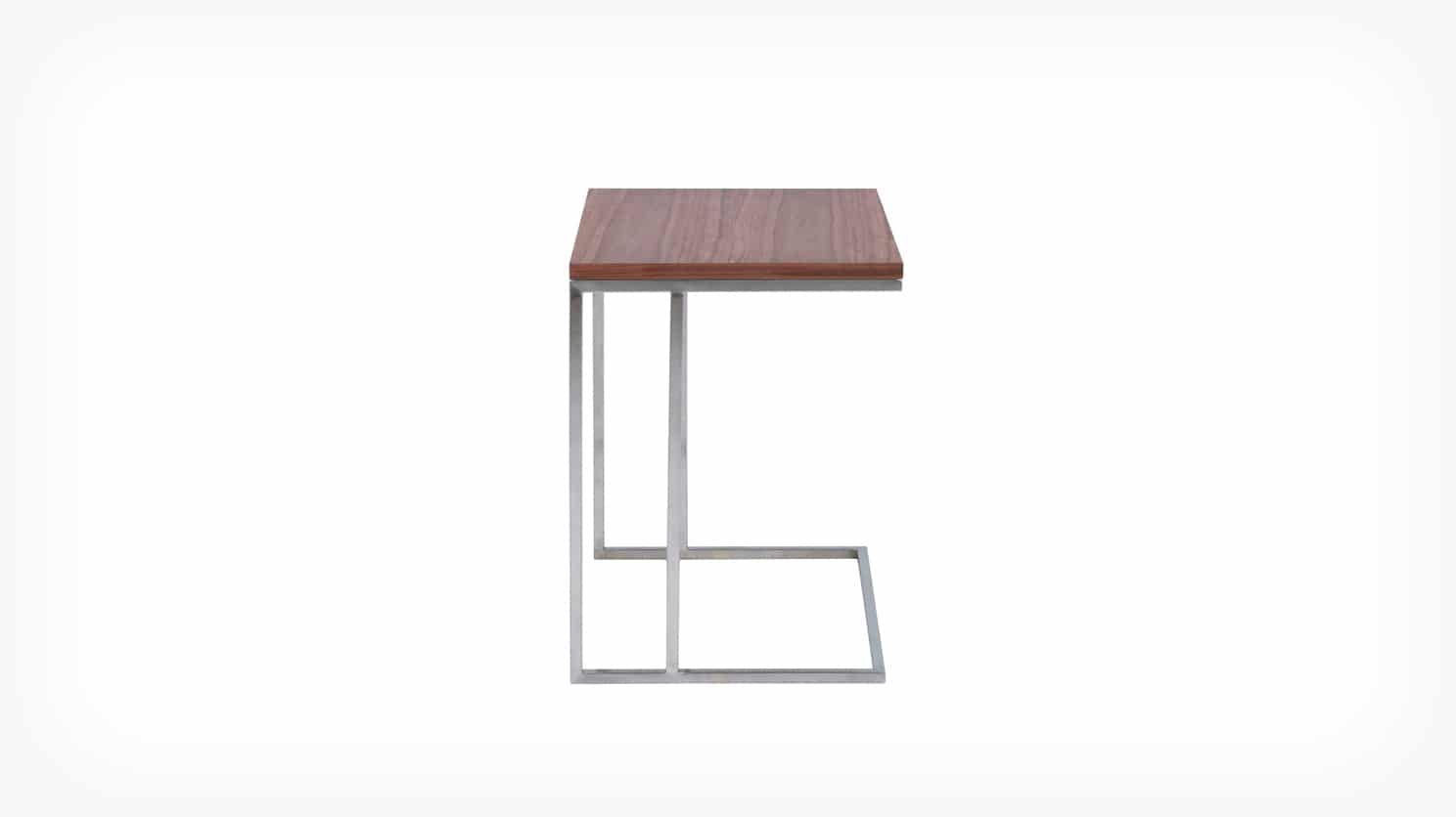 scout end table walnut side