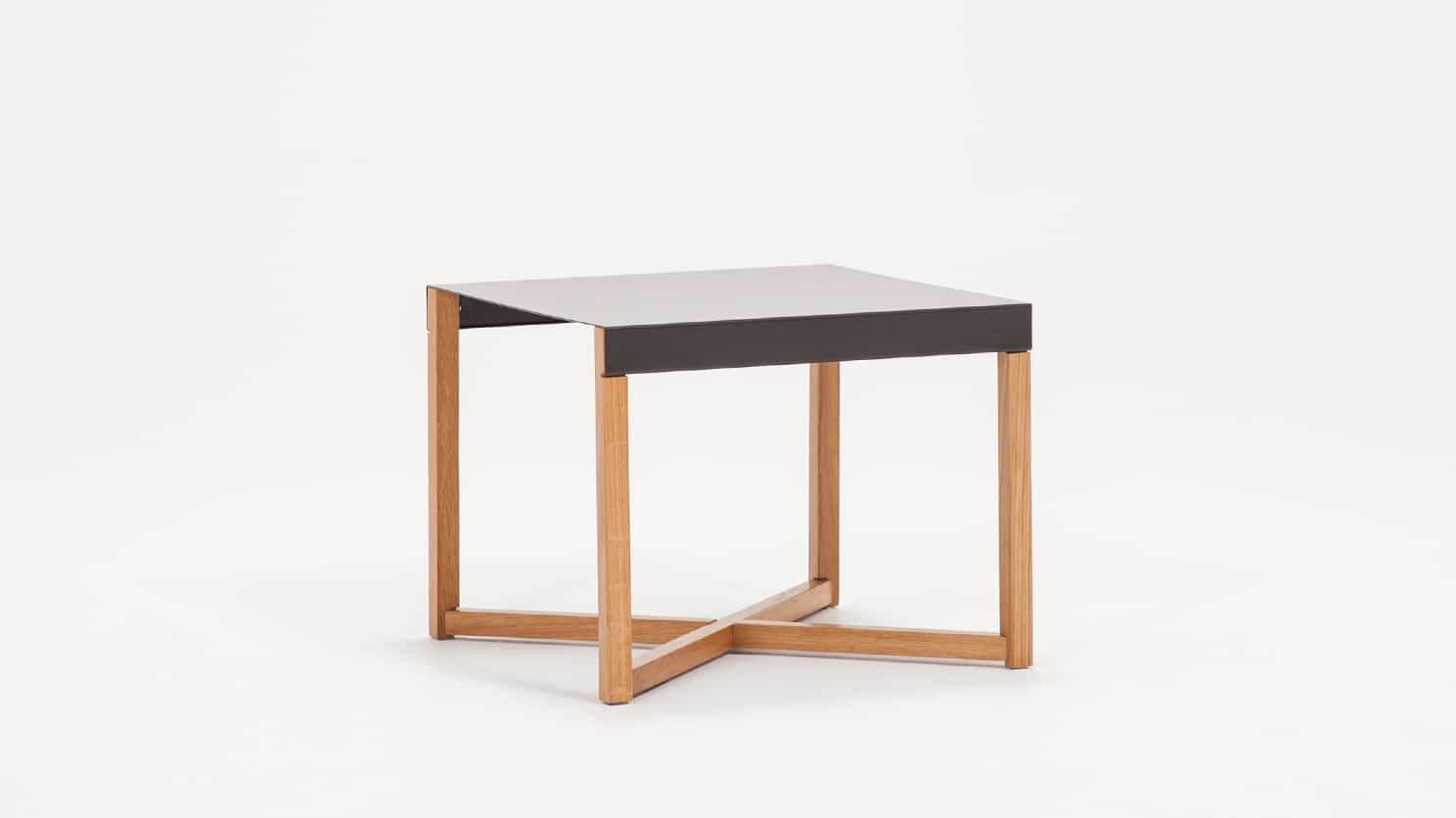 Trivia End Table Charcoal Corner