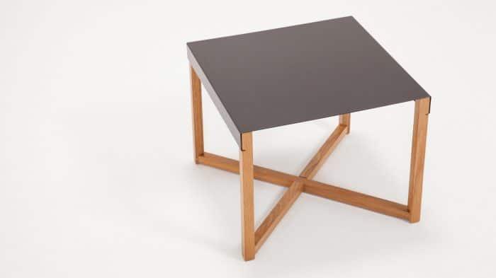 Trivia End Table Charcoal Angle