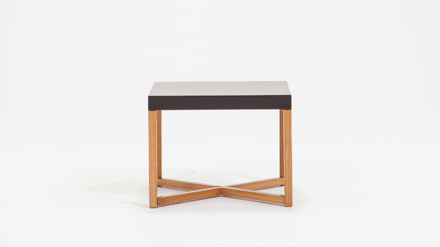 Trivia End Table Charcoal Front