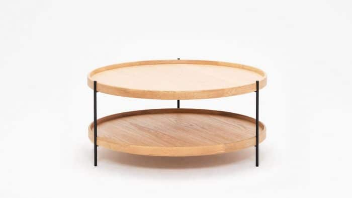 3020 418 16 4 coffee tables sage circular coffee table oak front 01