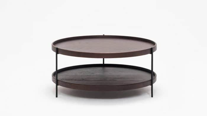 3020 418 17 4 coffee tables sage circular coffee table smoked oak front 01