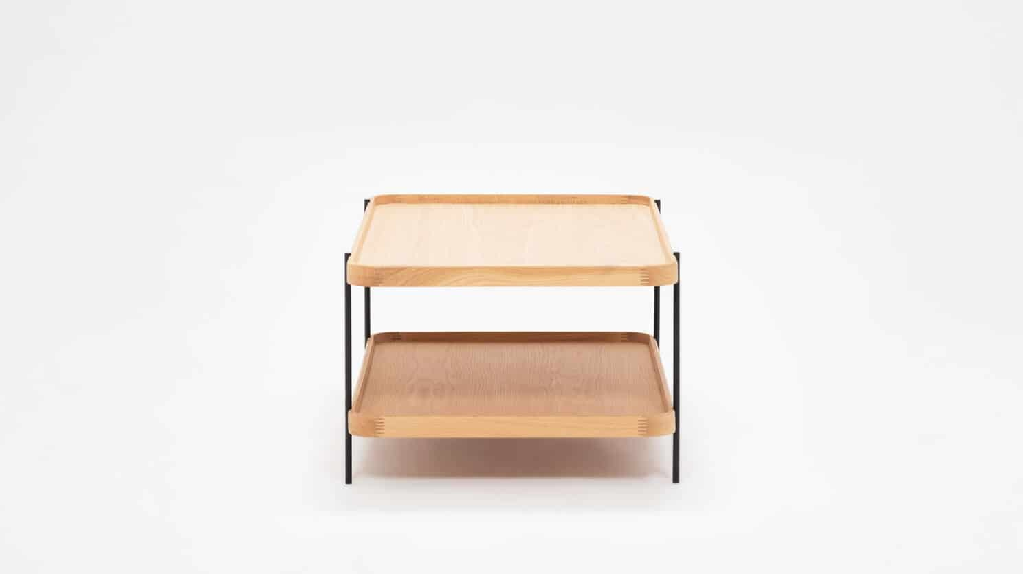 3020 419 16 4 coffee tables sage rectangular coffee table oak side 01