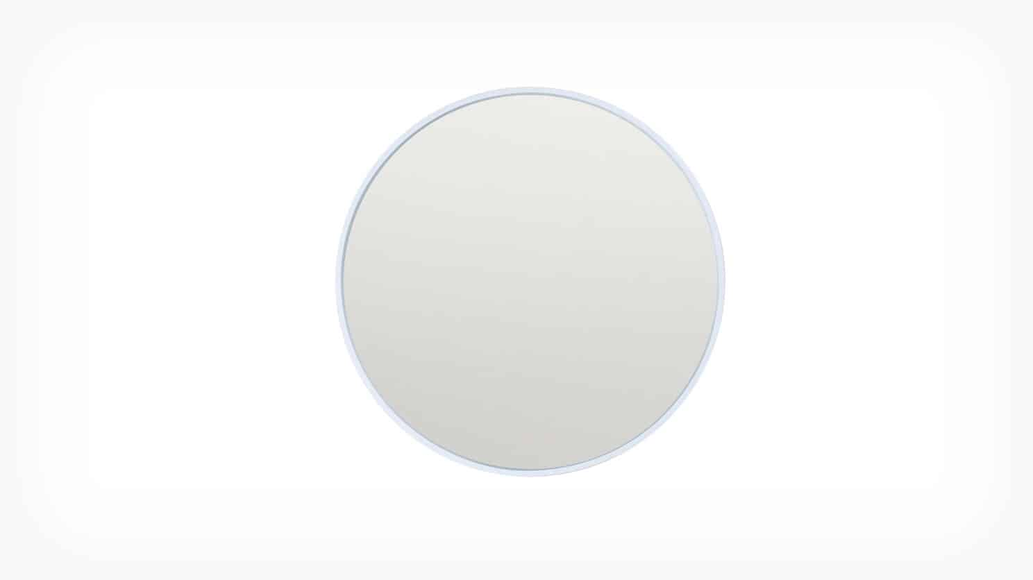 Medium White Conner Mirror Front