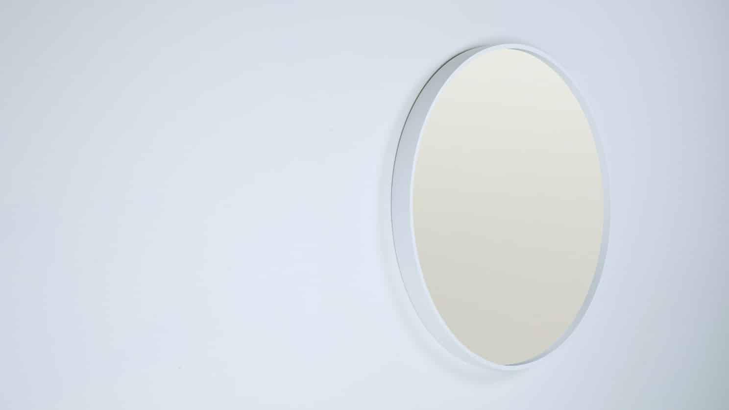 Medium White Corner Mirror Corner