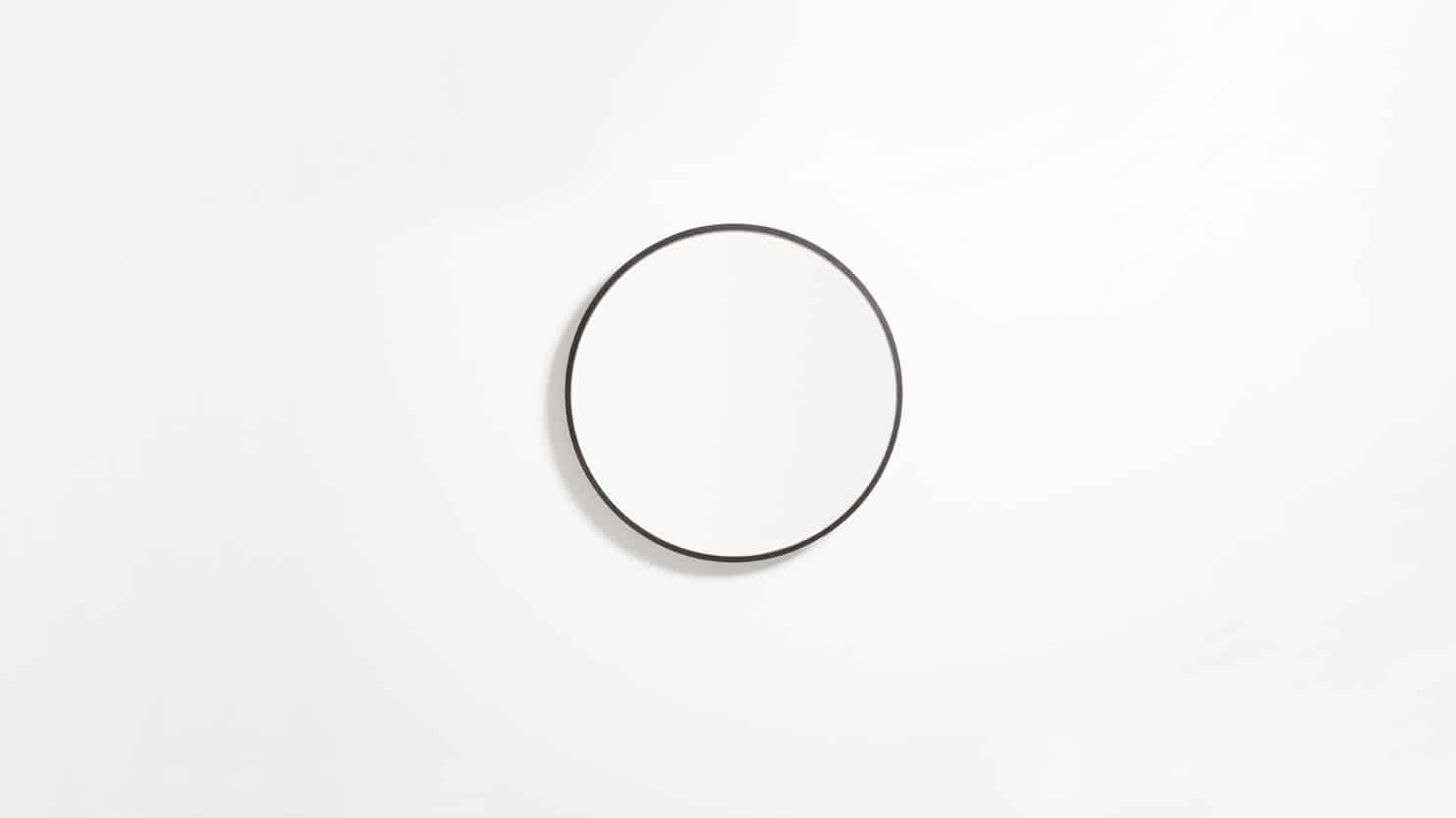 Small Black Conner Mirror Front