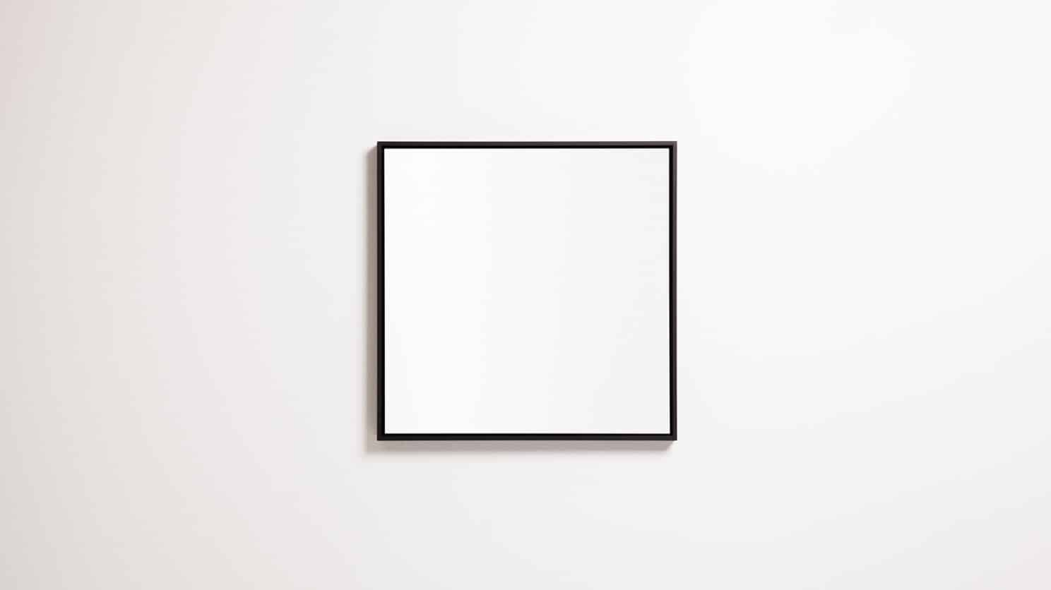 Black Spy Square Mirror Front