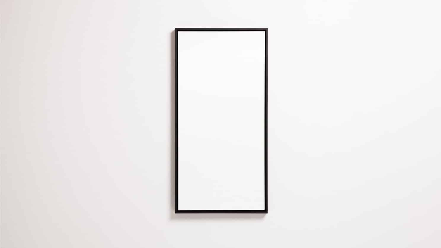Black Spy Rectangle Mirror Front