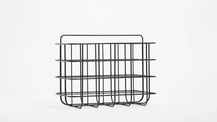 3230 615 1 1 organization station magazine rack black corner