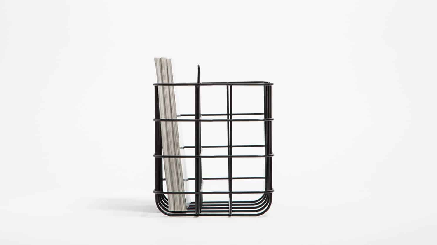 3230 615 1 2 organization station magazine rack black detail