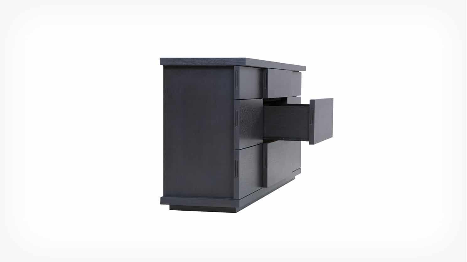6080 451 par 3 dressers boom double dresser onyx corner w drawer