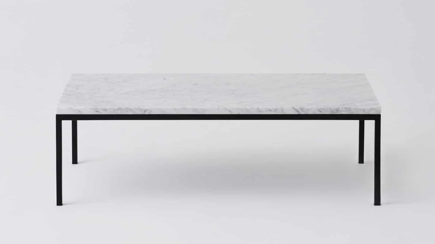 7020 030 par 11 coffee tables custom 48 coffee table white marble black base front 02