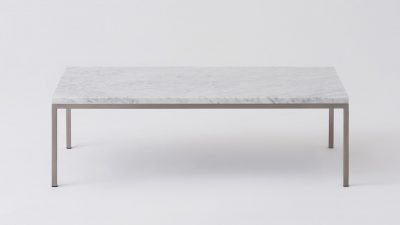 Marble Steal Base Coffee Table