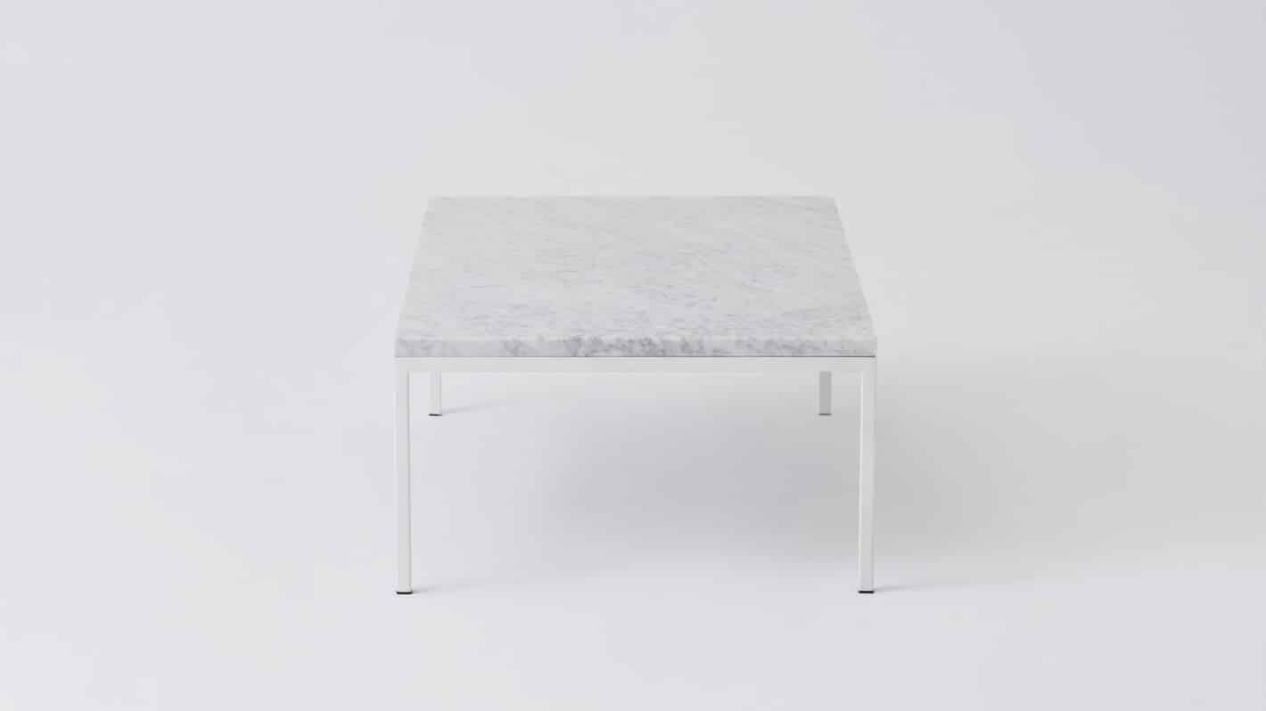 7020 030 par 18 coffee tables custom 48 coffee table white marble white base side 01
