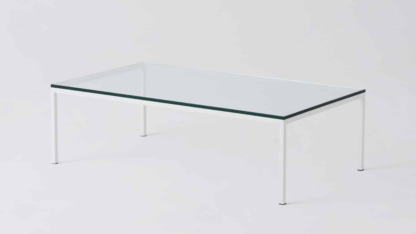 7020 030 par 2 coffee tables custom 48 coffee table glass white base corner 01