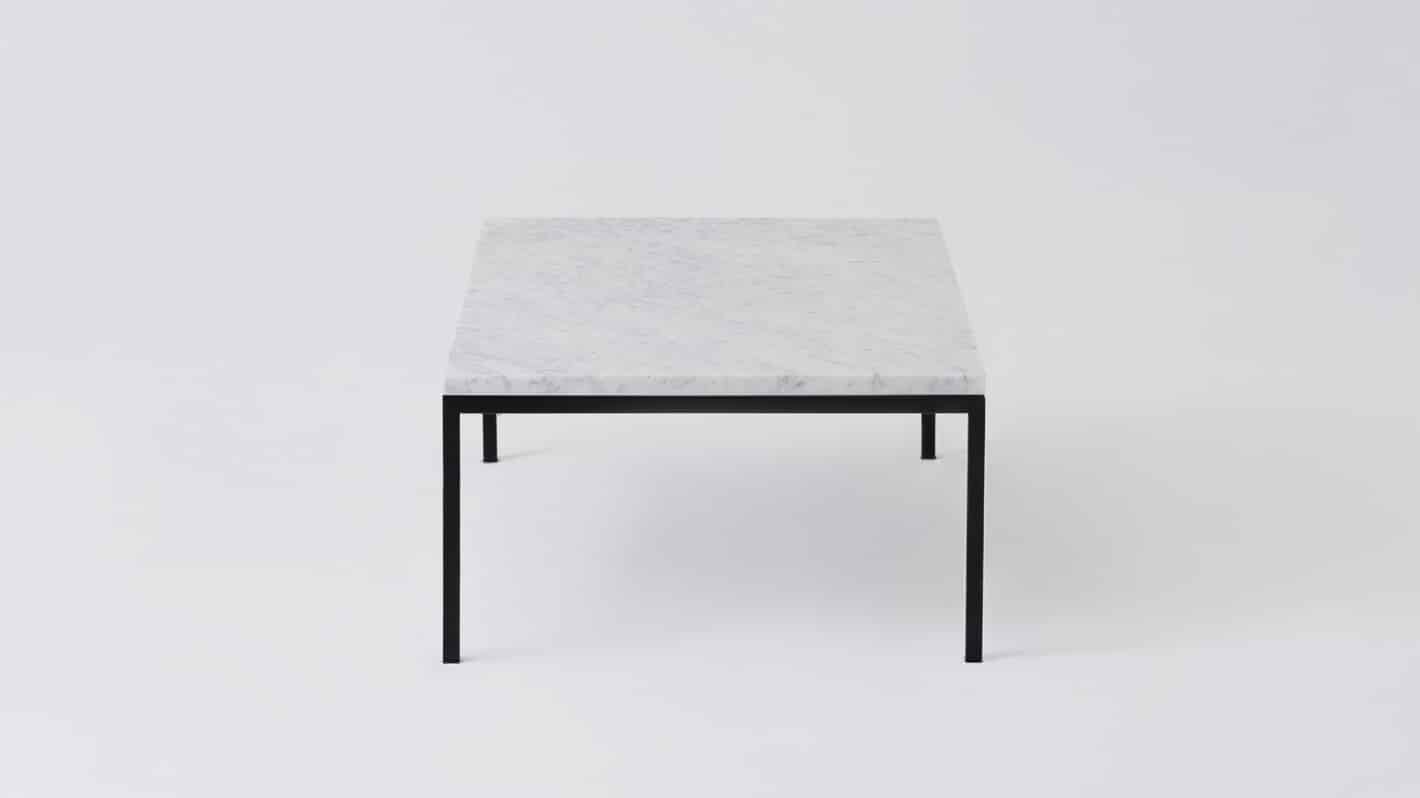 7020 030 par 23 coffee tables custom 48 coffee table white marble black base side 01