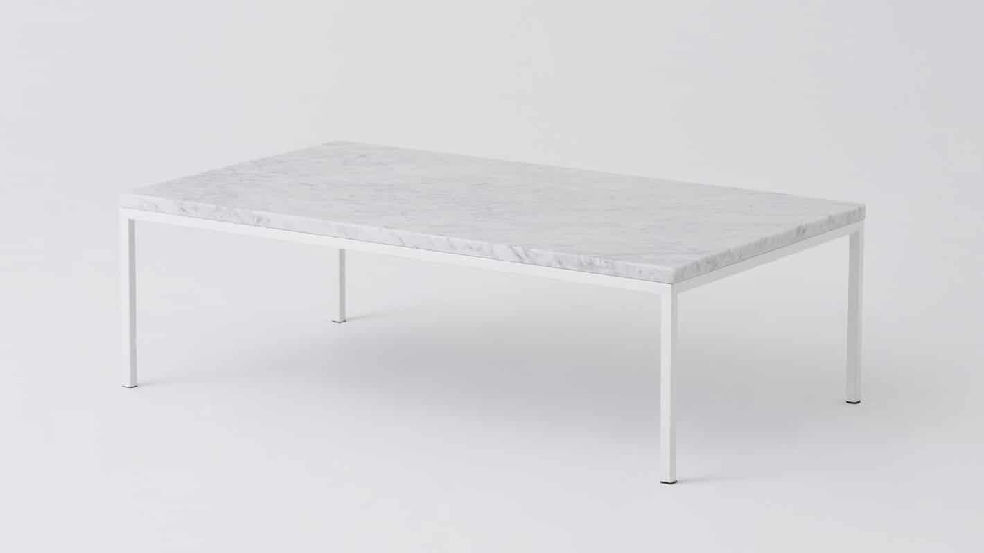 7020 030 par 6 coffee tables custom 48 coffee table white marble white base corner 01