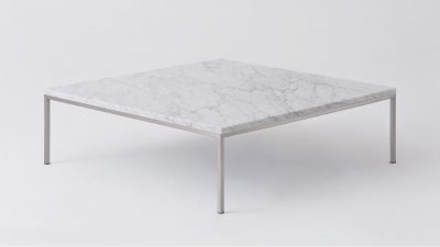 Marble steal square coffee table
